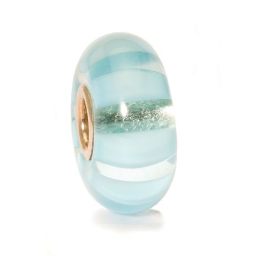Trollbeads Light Blue Stripe Glass Bead TGLBE-10058